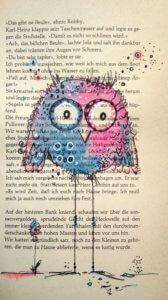 Art Journaling auf alten Buchseiten