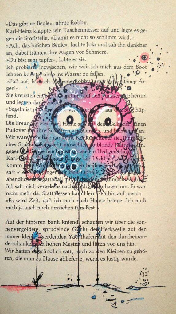 Happy Birds auf alten Buchseiten malen: Ein spannendes Projekt