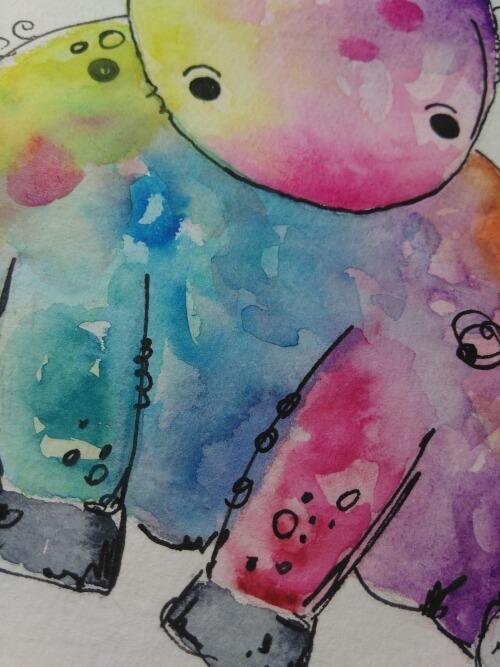 Einhorn malen mit Aquarell