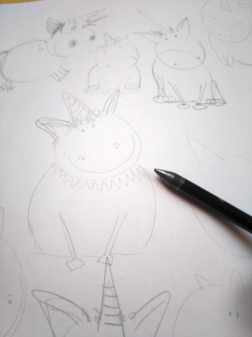 Einhorn Zeichnen Clarissa Hagenmeyer