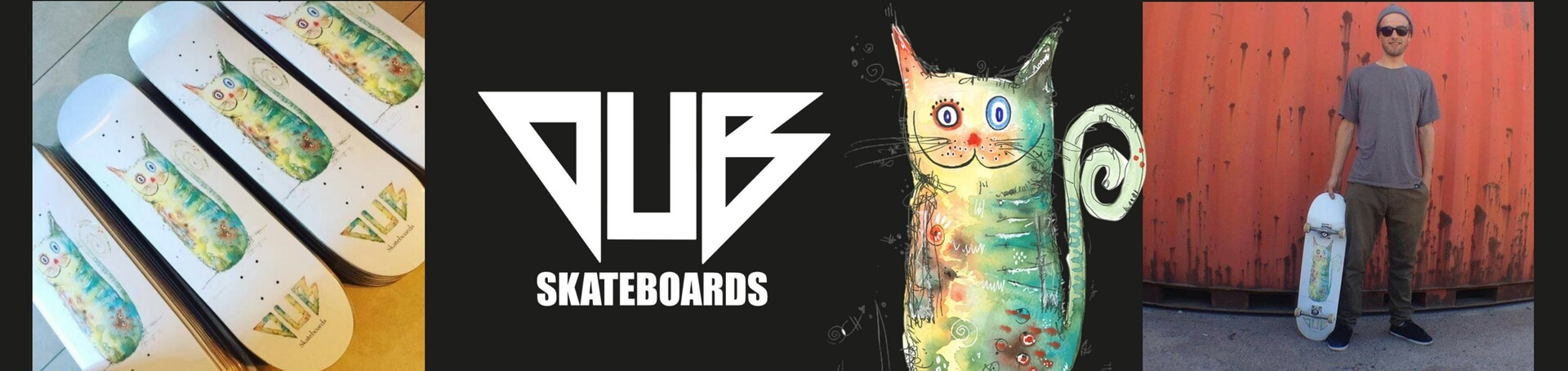 DUB Skateboards Happy animals