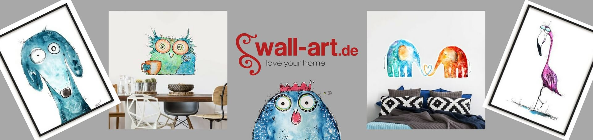 Happy Animals von Clarissa bei Wall Art