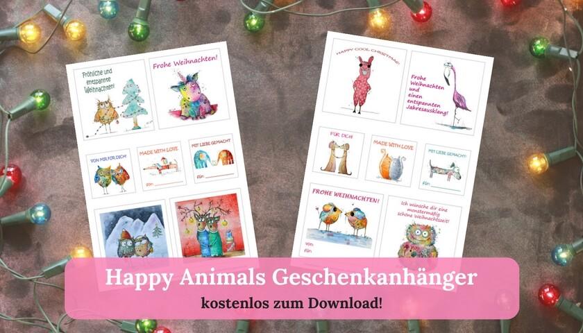Happy Animals Geschenkanhänger kostenlos