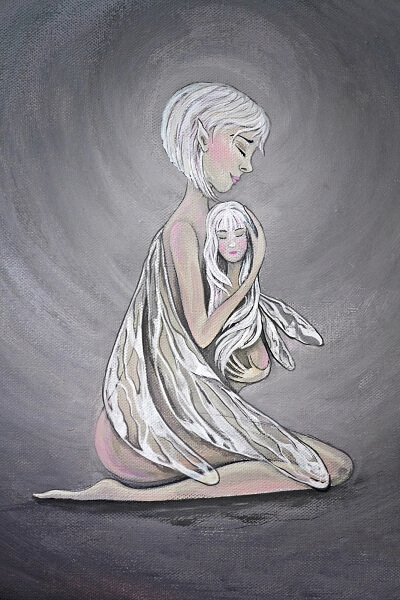 Elfe mit Kind von Susanne Arendt