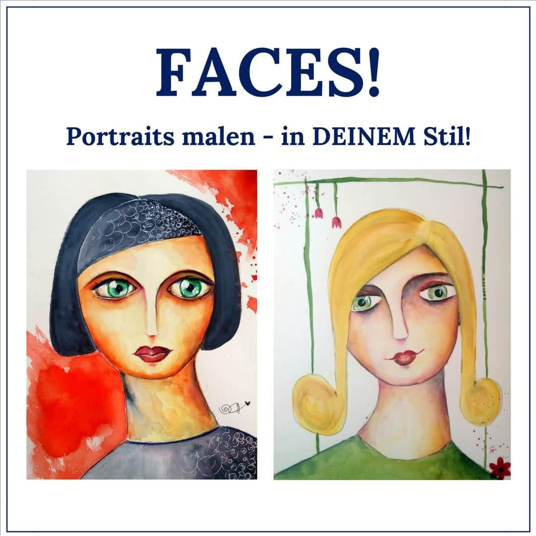 Portraits malen lernen