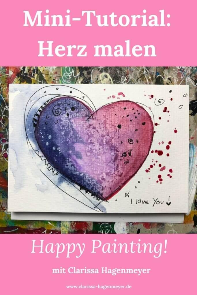 Herz malen Anleitung