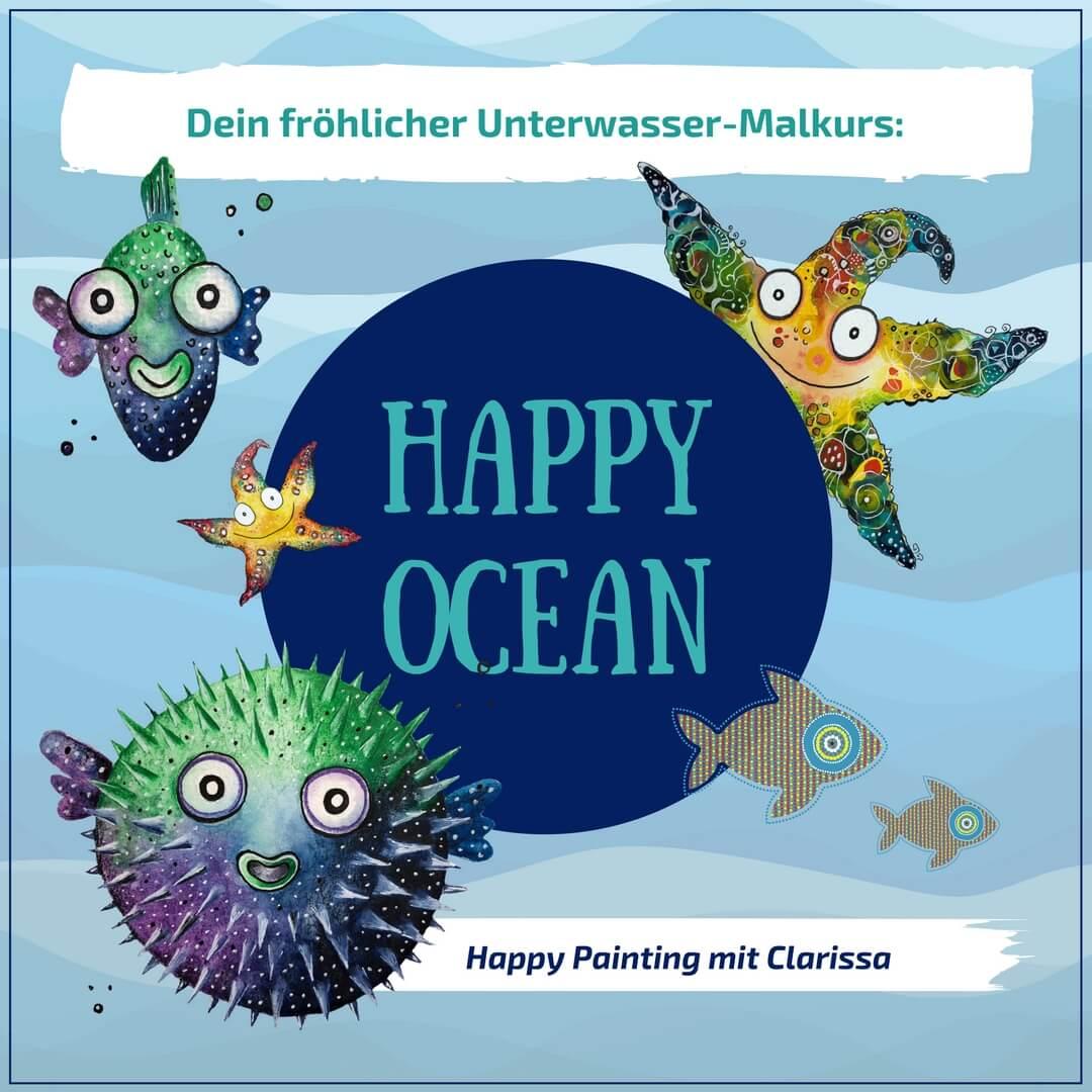 Happy Ocean Malkurs mit Clarissa