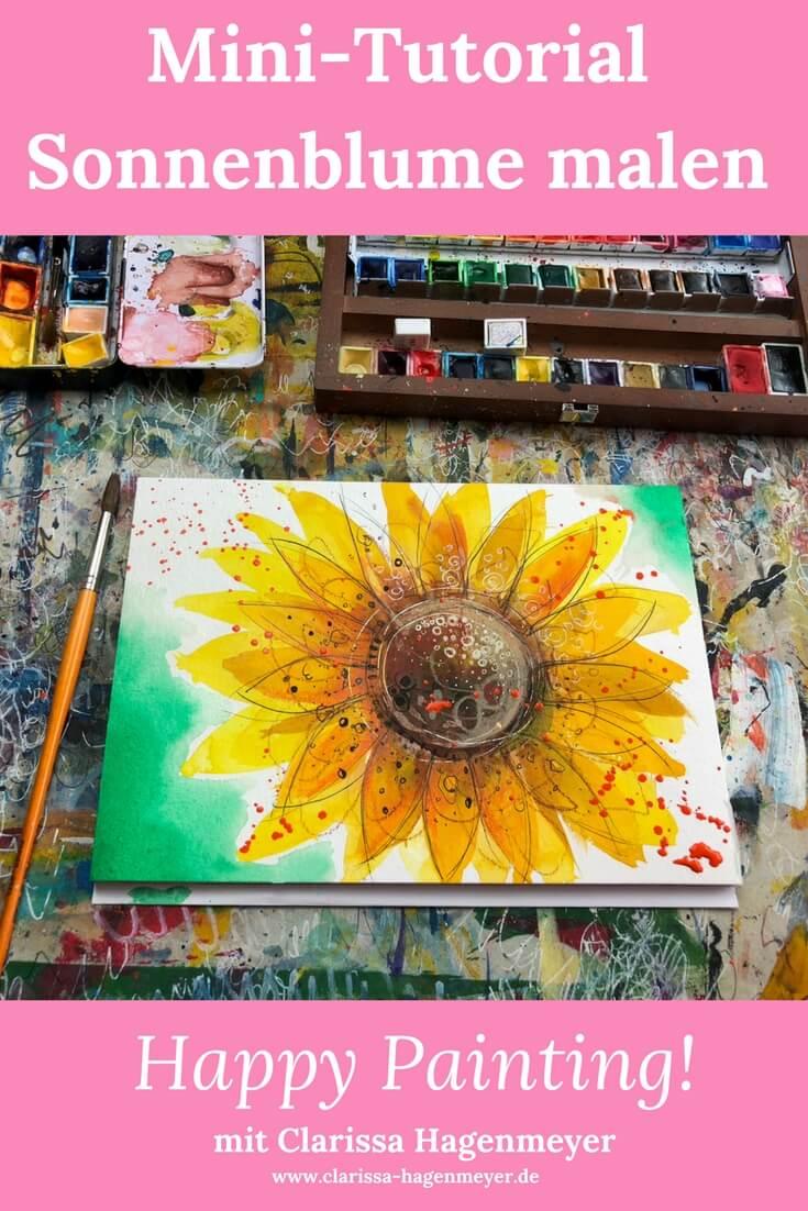 Sonnenblume malen
