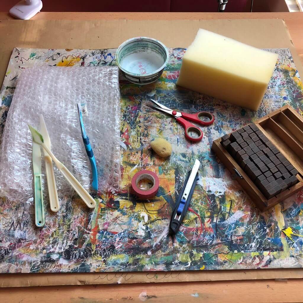 Art Journaling Materialien