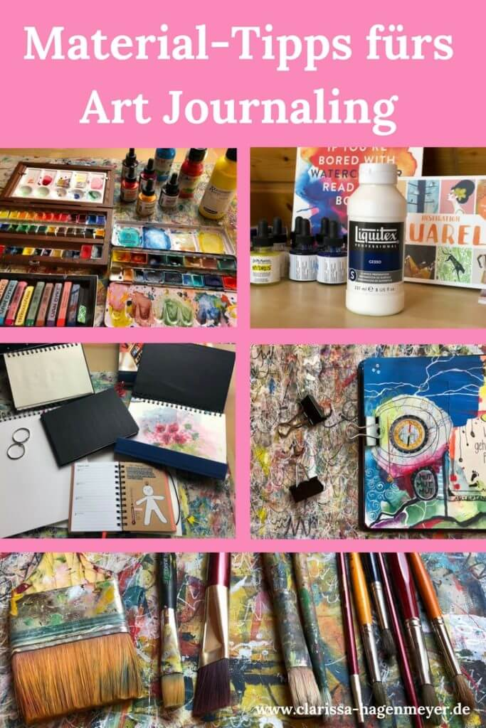 Materialien Art Journaling