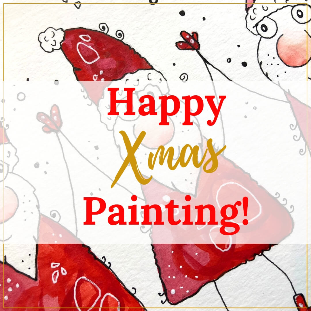 Happy Xmas Painting der Kurs